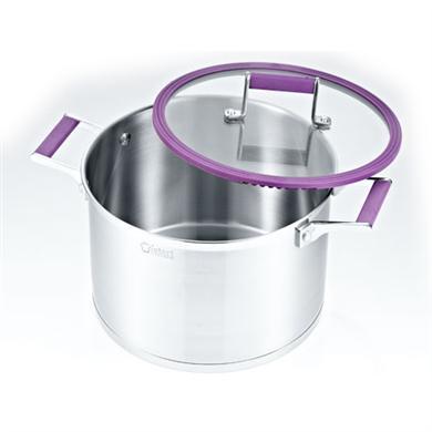 紫色汤锅不锈钢