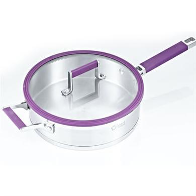 紫色不粘煎锅无涂层