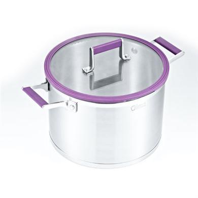 紫色不锈钢汤锅