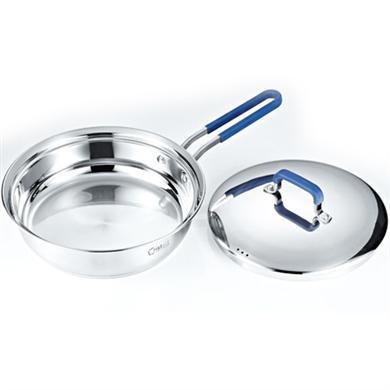 蓝色不锈钢煎锅
