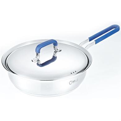 蓝色煎锅锅-不锈钢