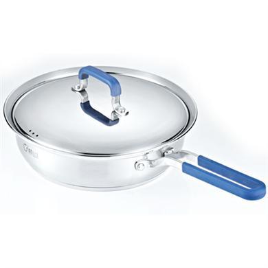 蓝色汤锅-不锈钢