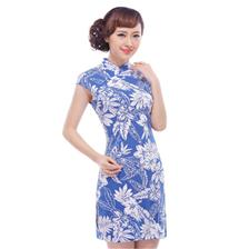 富贵盘线旗袍
