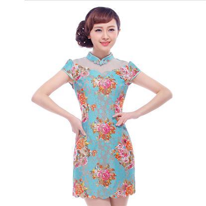 显瘦旗袍裙