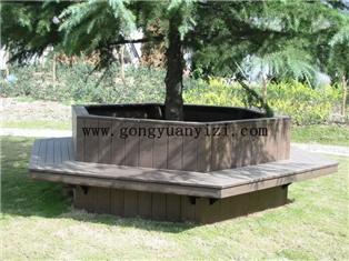 上海六邊形靠背圍樹椅_江蘇塑木樹圍椅子_浙江樹圈座椅_云南樹池坐凳_塑木石材座椅 039