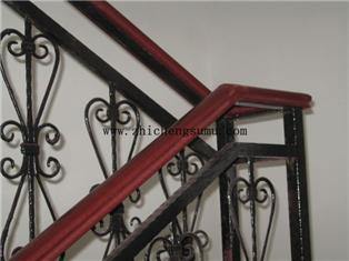 樓梯扶手安裝效果_靠墻pvc扶手安裝_pvc樓梯扶手接頭_小區塑木樓梯扶手加工
