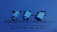.彩色耳机插座PJ-325C蓝色90度5P插板3.5孔径