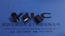 .DC电源插座DC-046三脚插板孔径6.4,针2.0+2.5针芯