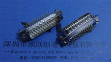 D SUB插座-25PIN公座+90度插板金属支架镀金15U-DV连接器
