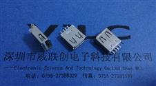 AF 180度焊线式USB母座 单脚有孔