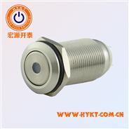 12MM金属按钮开关PBM12-11M-FS带灯自锁