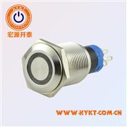 防水金属按钮开关-PBM16-23Z-FS-RY12-S5S(X3)-厂家曲供-价优PBM16MM-灯色多选