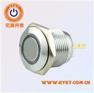 16MM金属按钮开关、PBM16环形带灯单刀复位开关