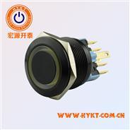 16MM金属按钮开关PBM16-13M-FS-RXX-A5S(Q)铝渡黑
