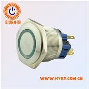 宏源开泰低价贩卖PBM25mm金属按钮开关PBM25-13M-FS-RG24-S5S(X3)带灯不带灯