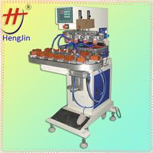 四色转盘移印机conveyor 4 color pad printing machine, automatic pad printing machine,lighter pad printing ma