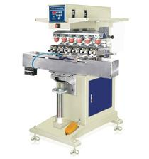 恒锦移印机HP-200F pneumatic six color matching pad printing machine with shuttle