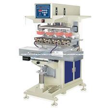 恒锦生产高精度移印机HP-300DXY Semi-automatic four colors servo pad printing machine with shuttle