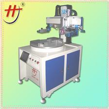 东莞恒锦生产双工位伺服丝印机HS-260PME/2 Electric touch panel screen printing machine, converyor screen printing ma