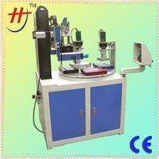 东莞恒锦产销高精密丝印机HS-350BR/4 rotary label printing machine,germany screen printing machine,logo printing m