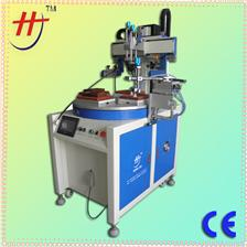 东莞恒锦产销四工位转盘丝印机HS260PME4 4 stations converyor servo silk screen printer with unload device