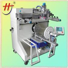 东莞恒锦生产曲面丝印机HS-500R semi-automatic plastic bucket printing machine, paint bucket printing machine, cy
