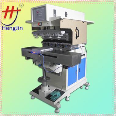 四色油盅伺服移印机precision 4 color shuttle pad printing machine with inkwell