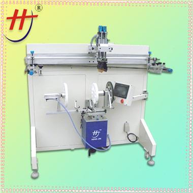 东莞恒锦生产滚动丝印机good quality oval screen printing machine, pail screen printing machine, round bottle pri