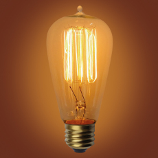 ST58 vintage edison light bulb