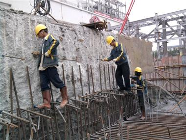 广州天河体育中心地下室植筋加固