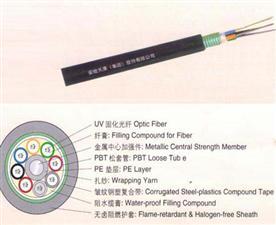 2-144芯阻燃松套层绞式光缆GYTZS