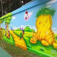 深圳今点手绘幼儿园墙绘壁画