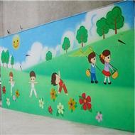学校外墙手绘壁画,幼儿园墙体彩绘艺术