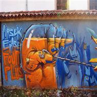 城市墙绘创意涂鸦艺术