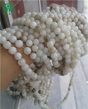 西宁客户青海玉项链珠子加工