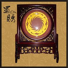 中国蜀绣,刺绣太阳神鸟.