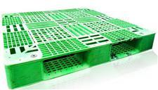 青绿色田字网格加厚版-二手韩国进口塑料托盘卡板TZ1111