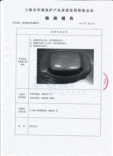 負離子檢測報告 003