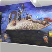 家庭梦幻墙体壁画