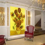 家庭手绘背景墙壁画